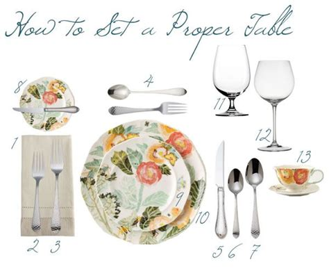 how to properly set a table how to set a proper table