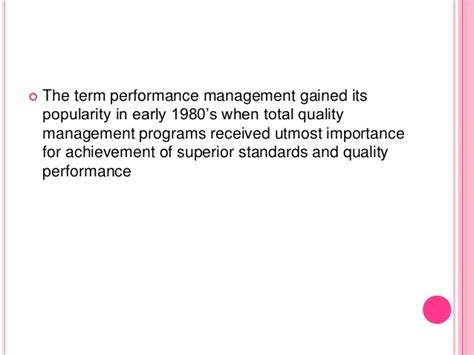 Total Quality Management Notes For Mba by Performance Management
