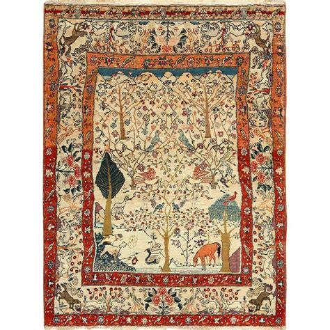 animal rugs for sale antique animal motif tehran rug for sale at 1stdibs