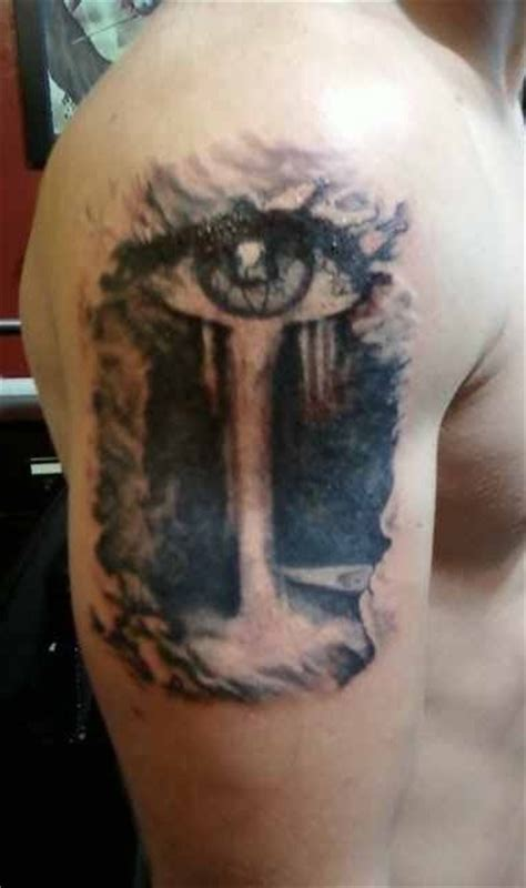 eye waterfall tattoos