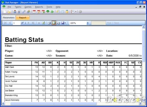 Baseball Card Statistics Template by Baseball Stat Card