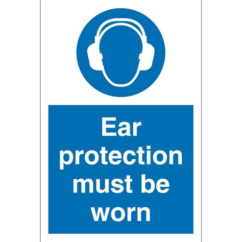 ear protection ear protection must be worn signs from key signs uk