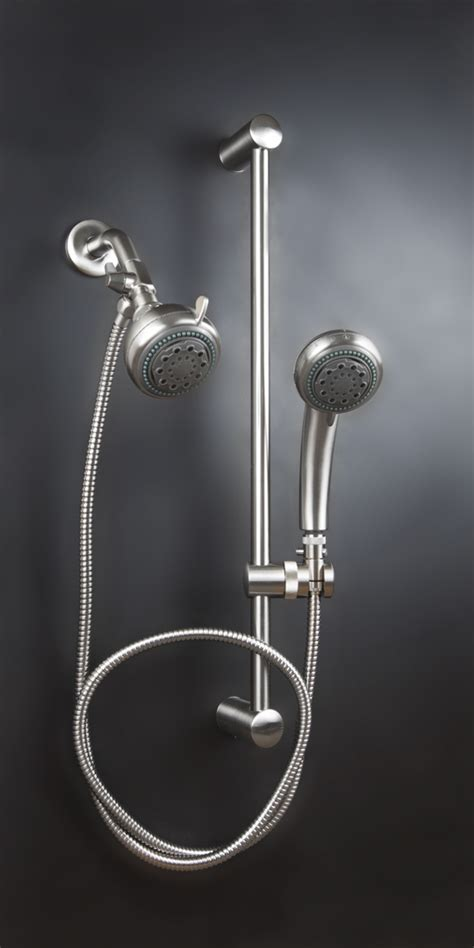 dual shower head with slide bar double shower head system