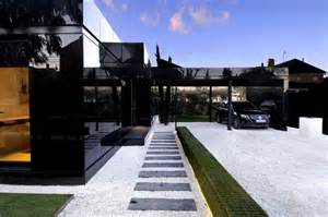 black homes for modular glossy black houses by a cero digsdigs