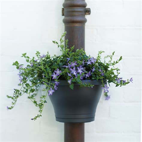 Drainpipe Planters by Outdoor Drainpipe Planter White