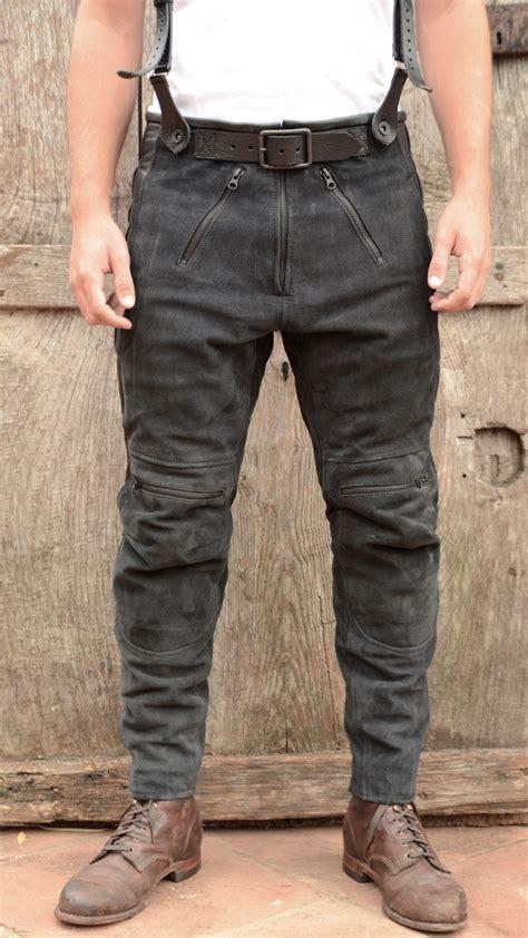 el solitario rascal leather motorcycle pants black el