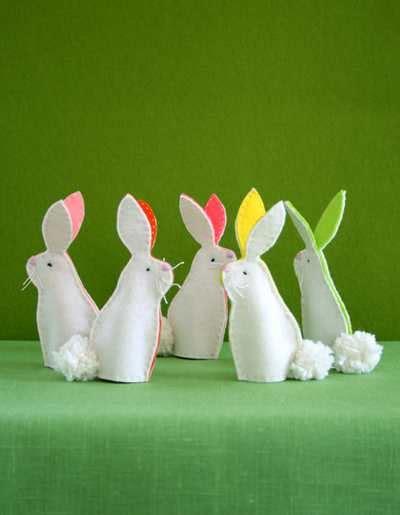 decorazioni per pasqua coniglietti dal riciclo creativo