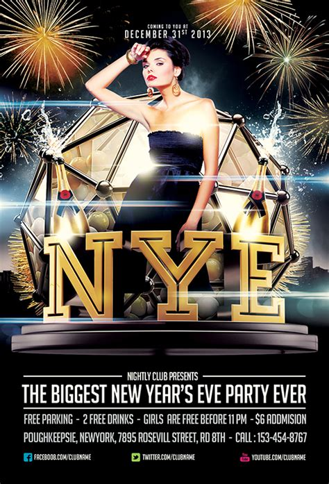 uber new year promotion free nye flyer template by saltshaker911