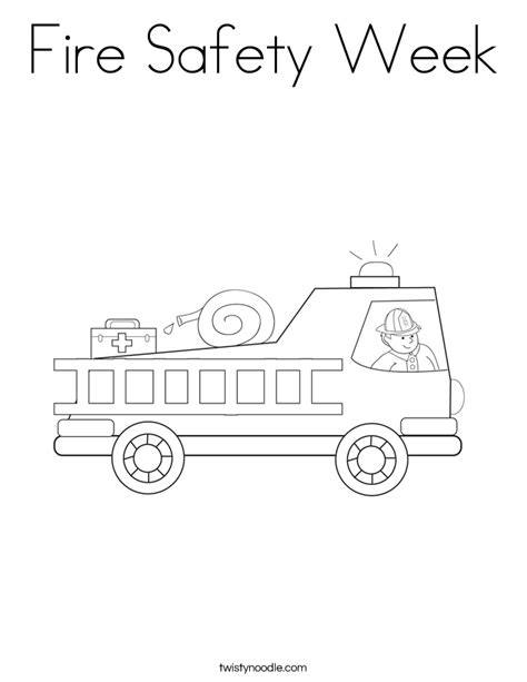 fire safety week coloring page twisty noodle