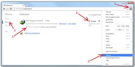 chrome extension settings download idm cc 7 3 69 for google chrome version 33 0 1