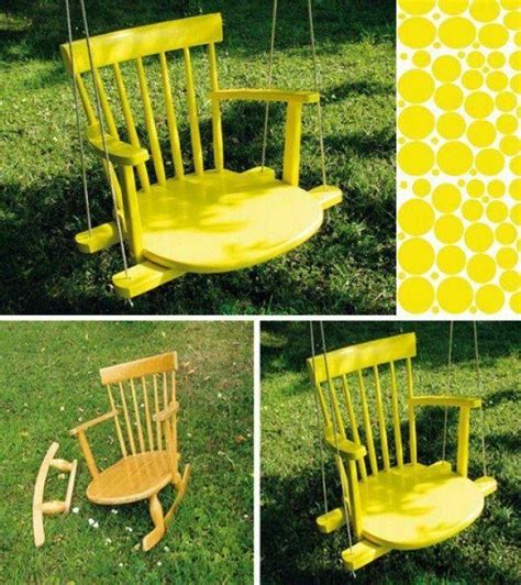 rocking chair swing diy rocking chair tree swing diy crafts pinterest