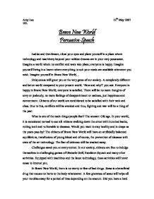 Brave New World Essay by Comparison Essay On Brave New World And 1984
