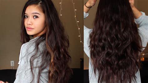 heatless wavy hairstyles overnight wavy hair heatless youtube