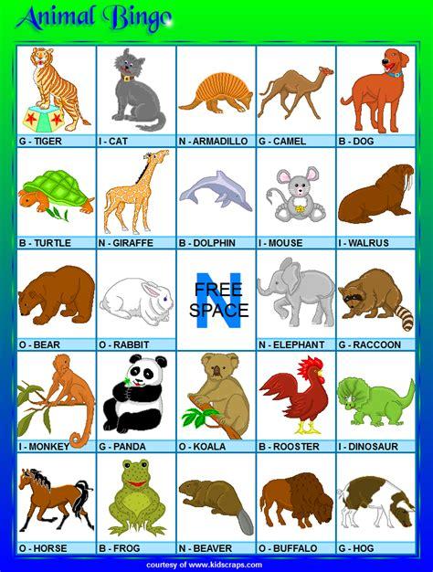 printable animal bingo search results for bingo board calendar 2015