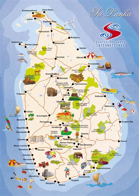 map for travel sri lanka travel map tourist map of sri lanka