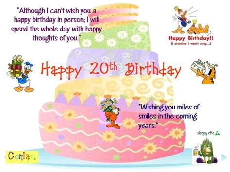 Happy 20th Birthday Quotes Happy 20th Birthday Son Quotes Quotesgram