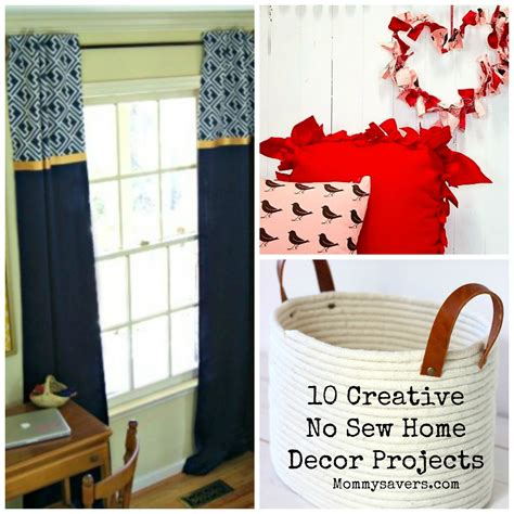 Sewing Ideas For Home Decorating 10 Creative No Sew Home Decor Ideas Mommysavers