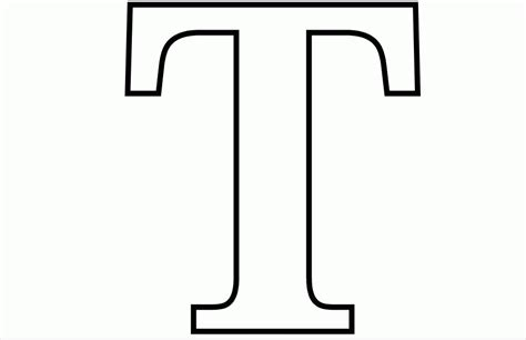 single alphabet coloring pages coloring pages alphabet letter t 526134