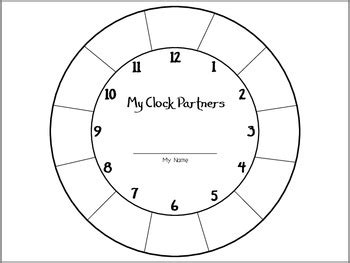 printable student clock clock partners student sheet by the price of teaching tpt