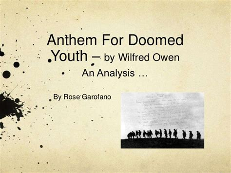 anthem for doomed youth b00r73o8z6 anthem for doomed youth analysis