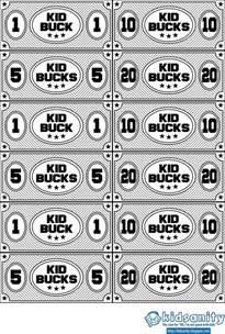 printable play money templates kid bucks animal themed printable play money vector