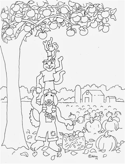 coloring pages  kids   adron autumn harvest
