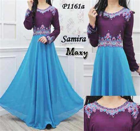 Baju Pesta Wanita Ungu baju muslim pesta samira ungu p1161a gaun wanita modis