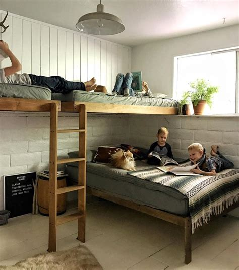 boys loft beds best 25 double bunk beds ideas on pinterest bunk rooms bed rails for double bed