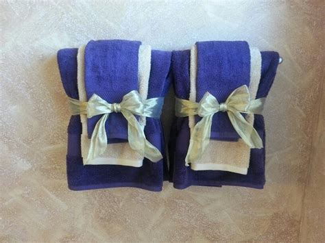 purple and gold bathroom decorative bathroom towels in purple and gold theme