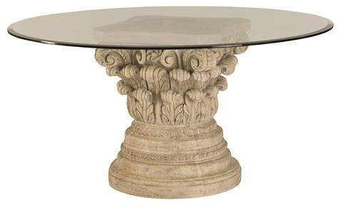 Glass Dining Table Base Pedestal Beautiful Pedestal Table Base For Glass Top Homesfeed