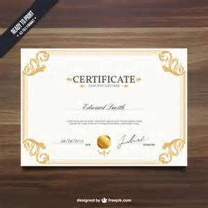 certification templates free ornamental certificate template vector free