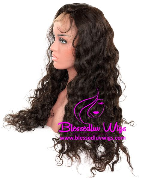 curl in front of hair pic 250 density lace front wig brazilian loose curl