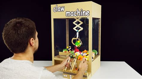 hydraulic powered claw machine  cardboard