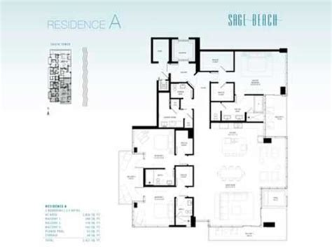 sage floor plan sage beach pre construction for sale in hollywood florida