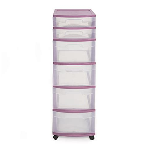 Sterilite 6 Drawer by View Sterilite 174 Purple 6 Drawer Cart Deals At Big Lots