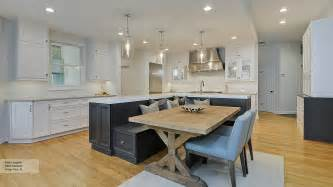 kitchen featuring an island with bench seating omega 19 must see practical kitchen island designs with seating