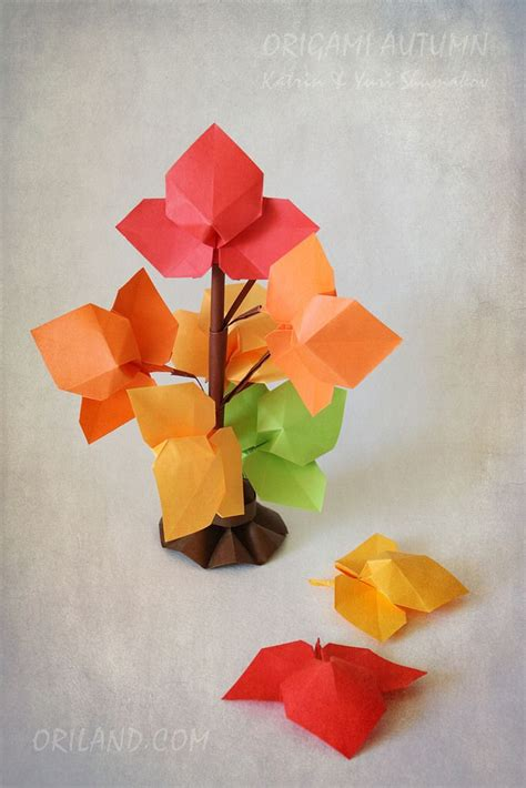 Origami Flower Leaves - 335 best origami leaves images on origami