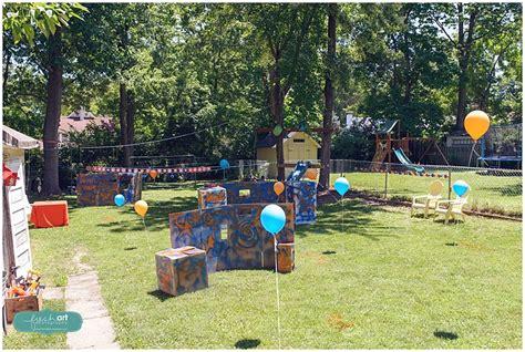 Backyard Nerf Gray S Nerf Gun Birthday St Louis Children S