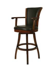 Swivel Bar Stool With Arms Glenwood Swivel Bar Stool With Arms Russet Cordovan Brown Finish Gl 217 30 Rd 867