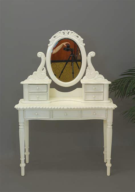 www schreibtische de schminktisch frisierkommode mit spiegelaufsatz im antik