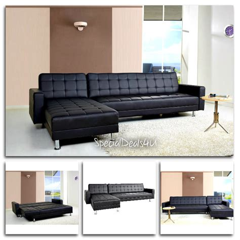 Living Room Sleeper Sofa Leather Sectional Sofa Bed Sleeper Modern Furniture