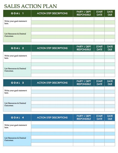 sales templates sales plan template peerpex