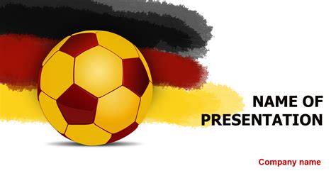 Download Free Germany Soccer Ball Powerpoint Template For Presentation Soccer Template