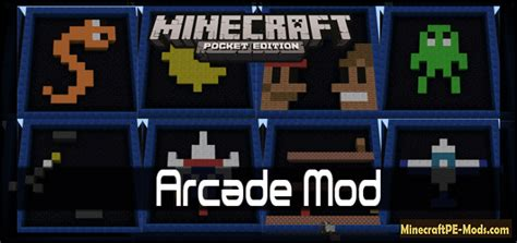 download mod game minecraft pe arcade mod for minecraft pe 0 11 1 download