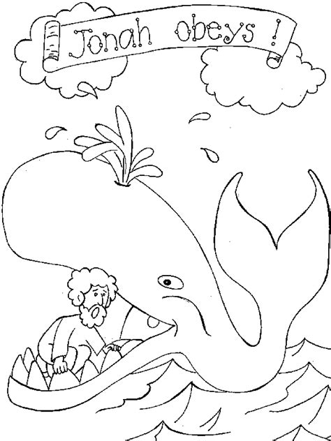 Jonah And The Big Fish Coloring Page Printable Pages Jonah Jonah And The Big Fish Coloring Page