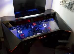 Desk For Pc Gaming Ultimate Gaming Pc Custom Desk Build 2016 Madvirals