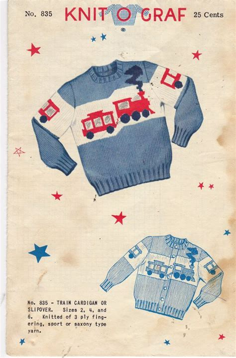 knit train sweater pattern 573 best vintage knitting images on pinterest knit