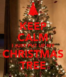 keep calm i just put up my christmas tree poster sally