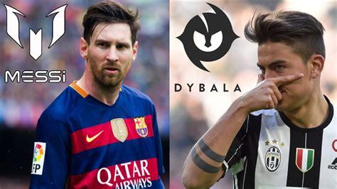 dei calciatori i migliori loghi dei calciatori messi dybala cr7