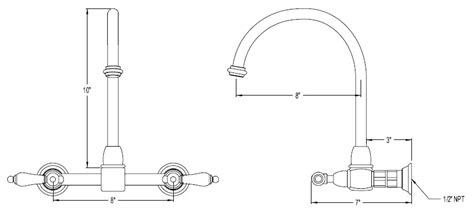 Faucet Size by Wallmount Kitchen Faucets